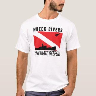 Wreck Divers Penetrate Deeper - SCUBA DIVING T-Shirt