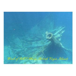 Wreck of RMS Rhone Postcard