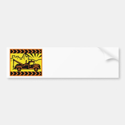 wrecker pick-up tow truck vintage bumper stickers