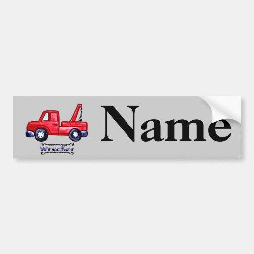 Wrecker Tow Truck Bumper Stickers