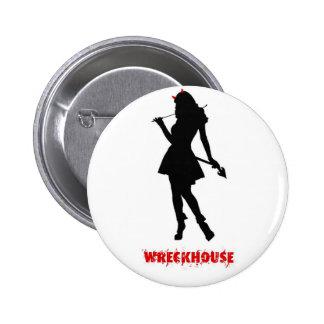 Wreckhouse Devil Girl Button