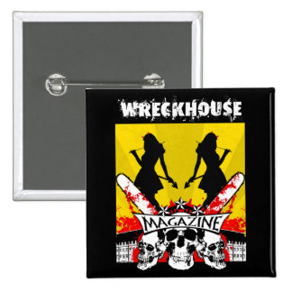 Wreckhouse Devil Girls Square Button