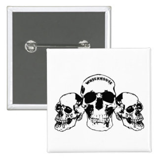 Wreckhouse Skulls Square Button