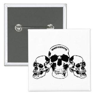 Wreckhouse Skulls Square Button