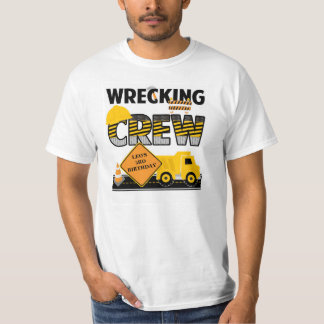 Wrecking Crew Shirt, Construction Work Zone, Name T-Shirt