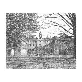 Wren Building, Williamsburg, Virginia Canvas Print