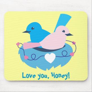 wren love birds nesting mousepad