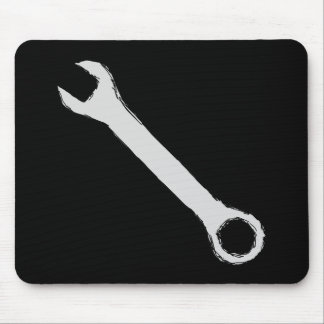 Wrench. Gray and Black. Spanner. Mouse Pad