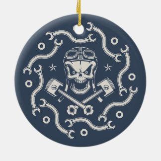 Wrenchy Pistoff Ceramic Ornament