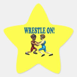 Wreslte On Star Sticker
