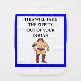 wresting burp cloth