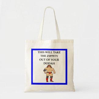 wresting tote bag