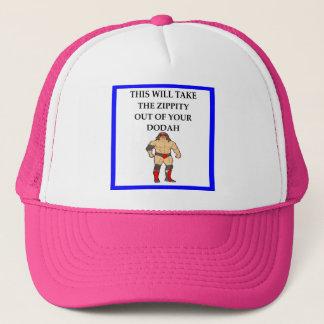 wresting trucker hat