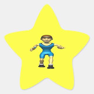 Wrestler 2 star sticker