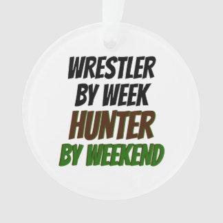 Wrestler by Week Hunter by Weekend Ornament