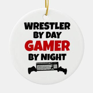 Wrestler Gamer Ceramic Ornament