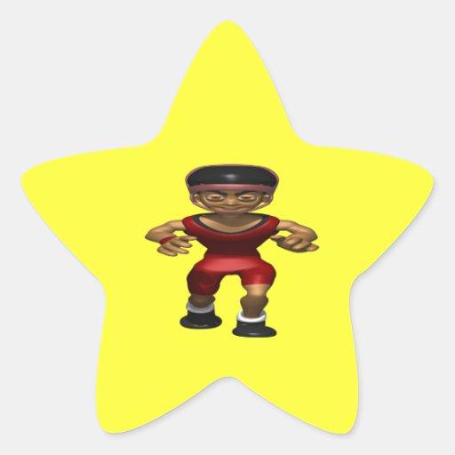 Wrestler Star Stickers