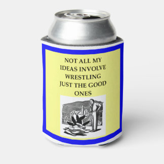 WRESTLING CAN COOLER