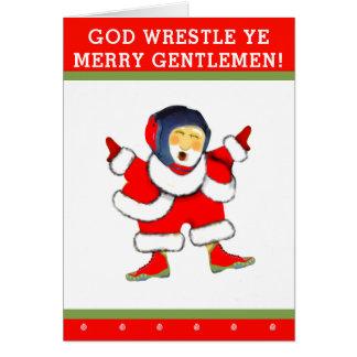 wrestling Christmas Card