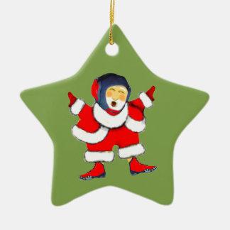 wrestling Christmas Ceramic Ornament