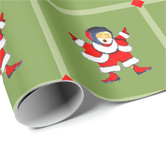 wrestling Christmas Wrapping Paper