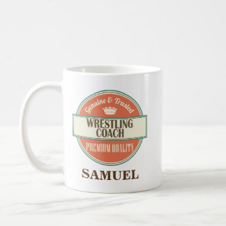 Wrestling Coach Personalized Office Mug Gift