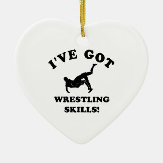 Wrestling designs and gift items ceramic ornament