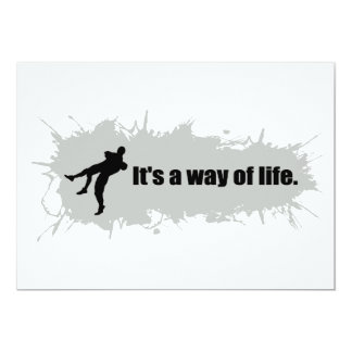 Wrestling is a Way of Life 13 Cm X 18 Cm Invitation Card