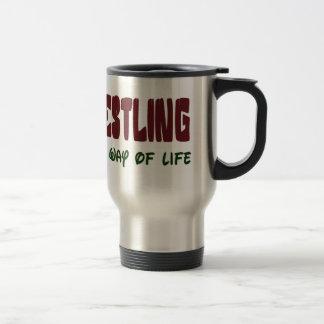 Wrestling It's a way of life Travel Mug