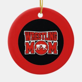 Wrestling Mom Christmas Ornament