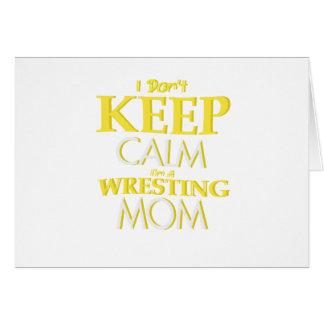 Wrestling Mom Wrestle Wrestling Funny Card