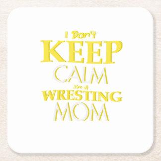 Wrestling Mom Wrestle Wrestling Funny Square Paper Coaster
