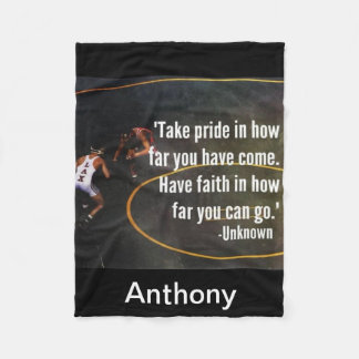 Wrestling Quote Take Pride Fleece Blanket