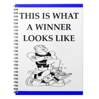 wrestling spiral notebook