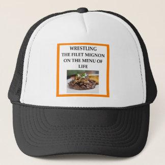 WRESTLING TRUCKER HAT