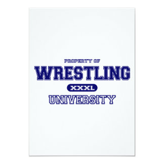 Wrestling University 13 Cm X 18 Cm Invitation Card