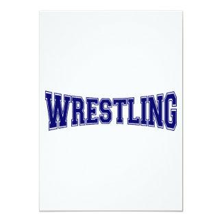 Wrestling University Style 13 Cm X 18 Cm Invitation Card