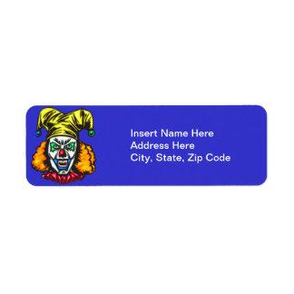 Wretched Evil Clown Return Address Label