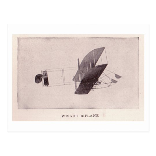Wright Biplane Postcard