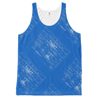 "Wright Bros. ""Flyer"" Blueprint 1903 All-Over Print Singlet"
