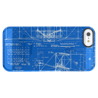 """Wright Bros. """"Flyer"""" Blueprint 1903 Clear iPhone SE/5/5s Case"""