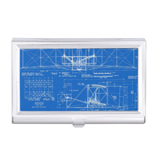 """Wright Bros. """"Flyer"""" Blueprint 1903 Business Card Holders"""