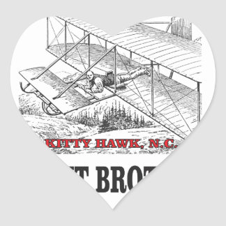 wright brother history heart sticker