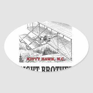 wright brother history oval sticker
