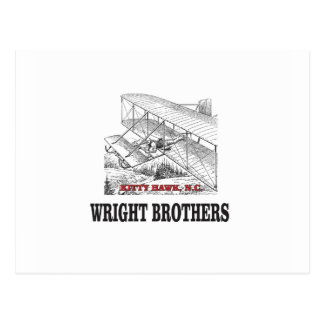 wright brother history postcard
