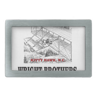 wright brother history rectangular belt buckle