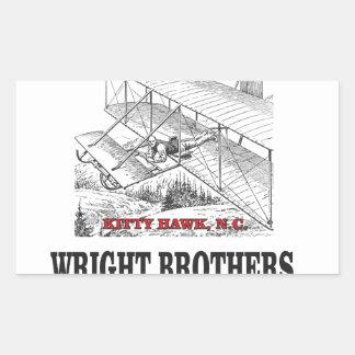 wright brother history rectangular sticker