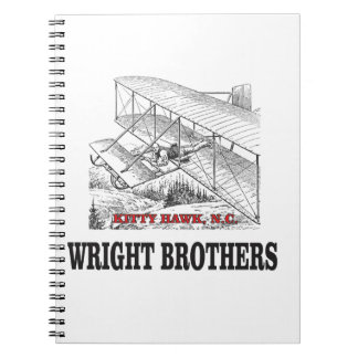 wright brother history spiral notebook