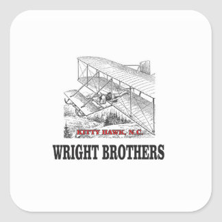 wright brother history square sticker
