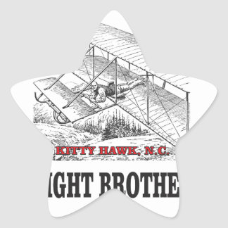 wright brother history star sticker
